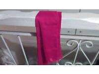 Red Silk Look Scarf