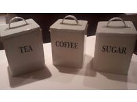 Tea + coffee storage tins