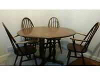 Ercol table and quaker chairs
