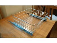 Wire Baskets Pull Out x 2 For 600mm Kitchen Unit