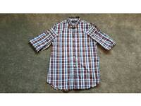 French Connection Casual Shirt Size M red & blue checked new without tags