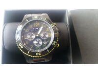 Quick sale Authentic Marc Jacobs Gent's Marine Black PVD Chronograph