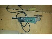 "110v angle grinder 9"" with blade no guard cheap it still works good hitachi"