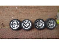 Genuine Audi Sline alloy wheels 17 inch, pcd 5x112