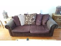 Chocolate Sofa Suite for Sale