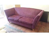 Wesley Barrell, one off, close-crop velvet sofa.