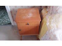 Bedside cabinet £30 1960's