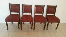 Attractive Solid Oak Victoria Four Dining Chairs