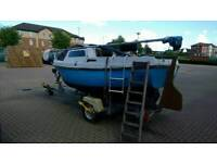Fishing boat or Sailing Craft 14 foot SHOAL DRAFT with displacement hull