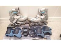 K2 Rollerblades Size 9 + Protective Gear