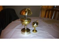 Vintage globe table lighter and musical cigarette holder set by Prince Globe Star