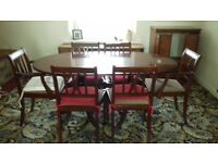 free to be collected 6 chairs and dining table