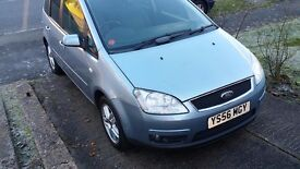 Ford C-Max 2.0 Zetec 5dr 2007 with 63674 low mileage and long MOT Oct 2017