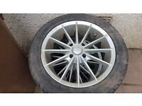 """15 """"4x100 alloy wheels with new tyres"""