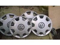 vw polo wheel trims set of 4