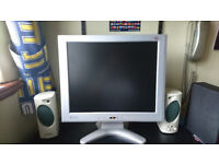LCD 17-inch home/office monitor with free stereo speakers and mic