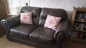 Outstanding 2 Seater Chocolate Brown Italian Leather Sofa