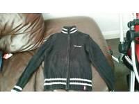 Designer Esprit edc black zip jumper size 8