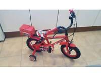 Boys 12 inch fireman bike