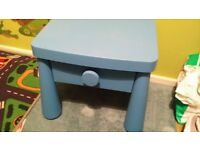 Ikea childs blue small table.