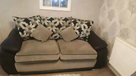Scs sofa 3 seater and small swivel chair