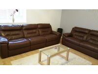 Genuine leather sofas: 3-Seater and 4-Seater