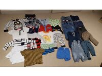 Large bundle of baby boys clothes 6-9months