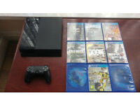 PS4 Console with Original Sony V2 Controller & 10 games