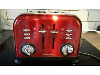 Morphy Richards 4 slice toaster Red