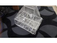 White wire frame milk crate - brand new