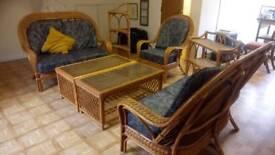Excellent Quality Cane Conservatory Furniture Set