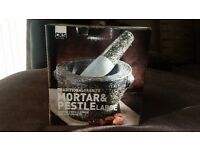 Brand new Mortar and pestle boxed - large