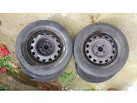 "14"" steel wheels from honda civic."
