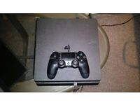 Ps4 slimline 1tb with 2 games for sale