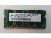 1x 2GB PC2-5300 DDR2 Laptop Memory card - Micron MT