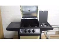 2 Burner Gas BBQ plus SIDE BURNER in Cream
