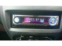 Kenwood car stereo with cd, radio & usb stick or ipod (old connection) via lead provided.if