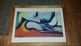 Picasso print in frame