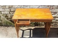 Solid oak lady's writing desk Antique shop 2 Sculcoates Lane Hull