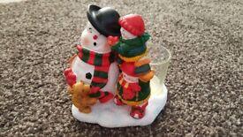 Yankee candle votive holder making snowmen