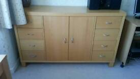 Next Furniture - dining table, chairs and sideboard £50 for the lot.