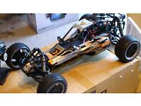 Genuine HPI Baja 5B 1/5 scale 2 stroke Buggy 26cc with accessories and spares and upgrades