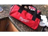 12v Milwaukee multi tool comes with travel bag