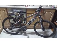 """Mens 16"""" mountain bike, 24 grs, front suspension, disk brakes, excellent cond. - only 50 miles use"""
