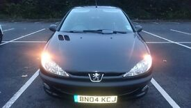 PEUGEOT 206 1.1 FEVER 46K MILES 13 MTHS MOT FSH 12K MILES TILL NEXT SERVICE ONE LADY OWNER FROM NEW