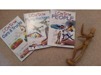 ART BOOKS - 3 NEW Learn-to-Draw Hardback Books with Mannequin