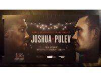 2x Anthony Joshua V Kubrat Pulev (Carlos Takam) Tickets - *FLOOR SEATS NEXT TO WALK ON* PRICE CHANGE