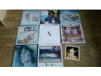 9 x steve hackett vinyl collection cured / highly strung / bay of kings