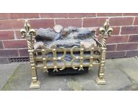 Vintage Solid Brass Freestanding Electric Fire