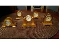 MINITURE CLOCKS X5